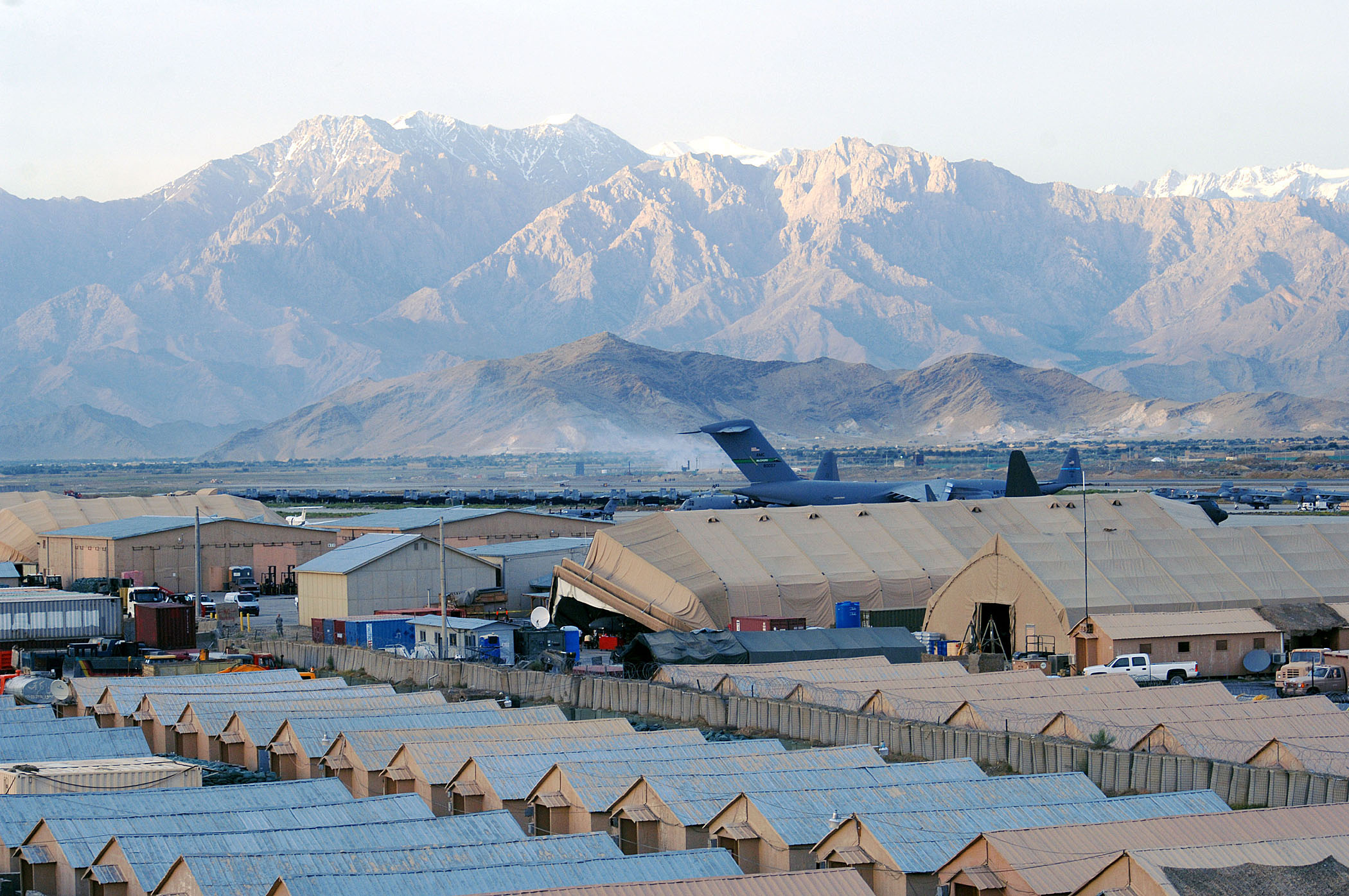 070520 Bagram Airfield from the Air Traffic Control Towers catwalk 1
