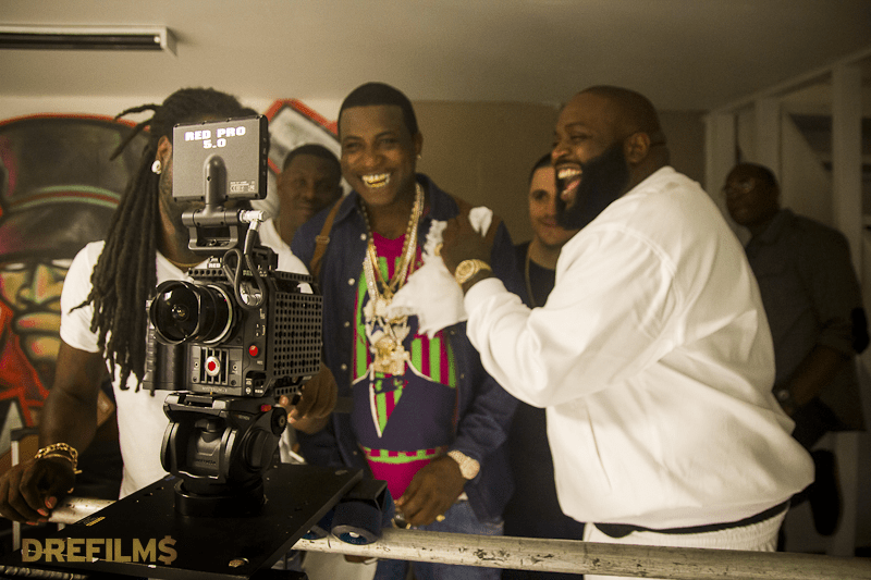 Elegant Photos From Gucci Mane Ft. Rick Ross U201cTrap House IIIu201d Video Shoot