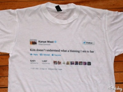 The Kanye West Tweet That Became A T Shirt The Source