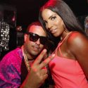 French Montana and Alaina Smith from Team Hennessy