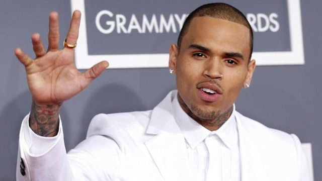 Chris Brown at Grammys 2013