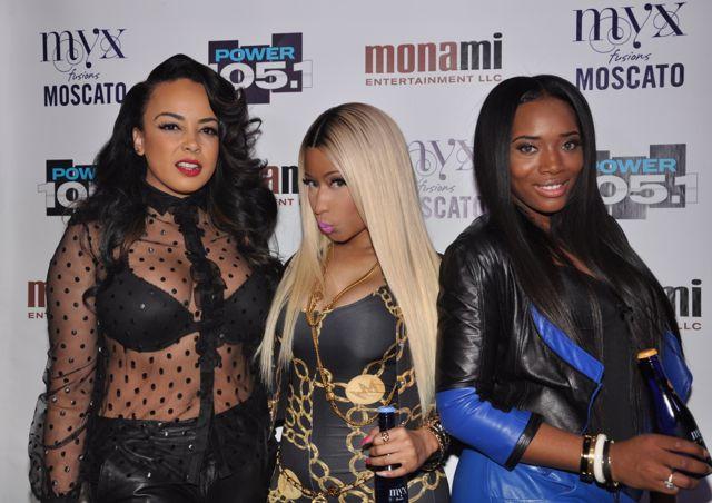 Lorel Nicki Minaj Yandy Smith backstage at Powerhouse