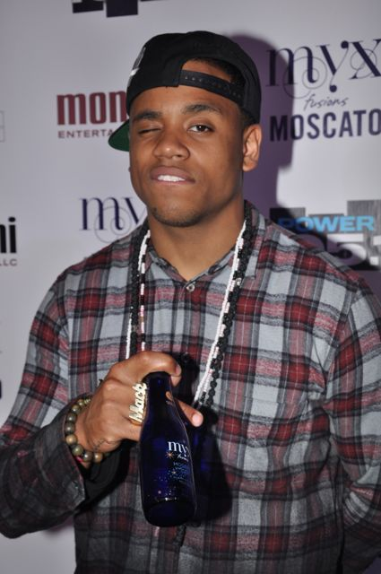 Mack Wilds backstage at Powerhouse