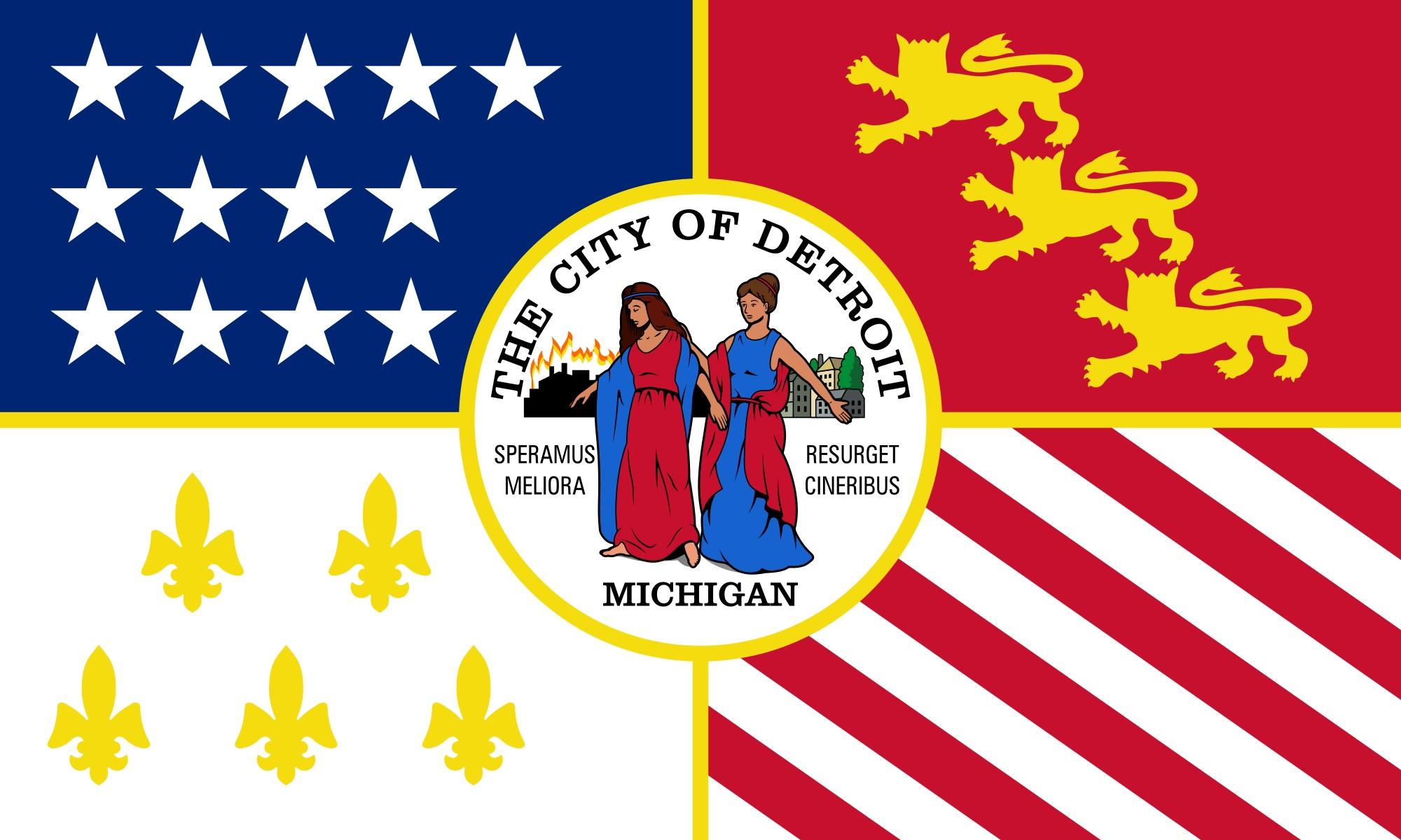 Detroit flag
