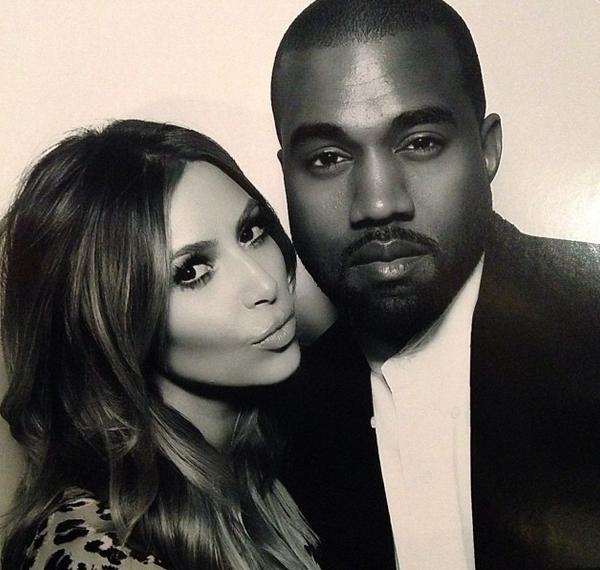 kim kardashian and kanye west on xmas