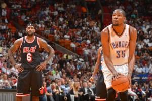 Durant, Lebron James, Thunder, Heat, NBA