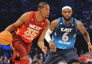 Kevin Durant, LeBron James, All Star, New Orleans, NBA