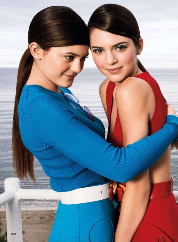 Kendall Jenner and Kylie Jenner in March Glamour 2013 1 600x815