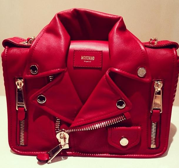 Moschino Leather Jacket Handbag