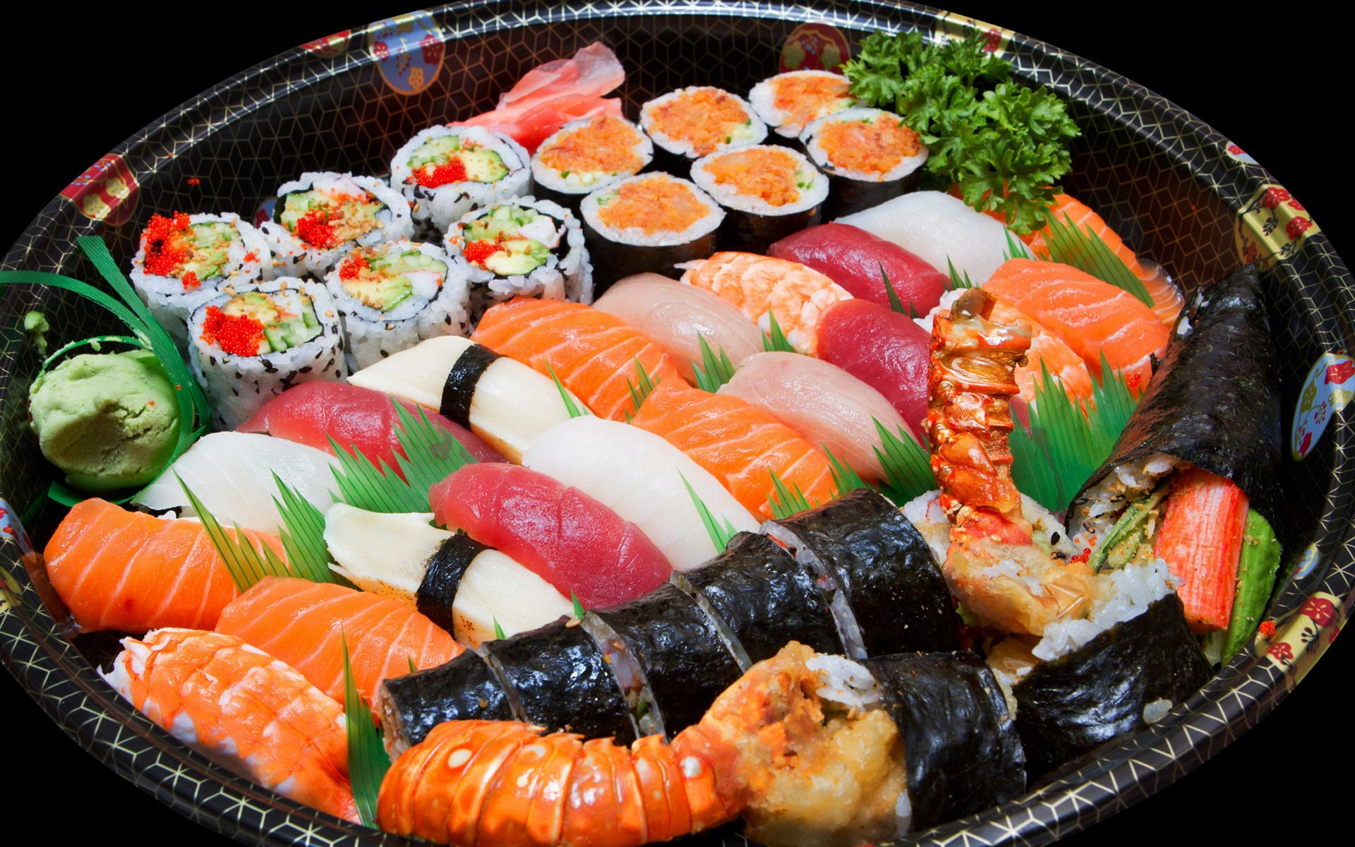 Sushi sashimi Plate Wallpapers