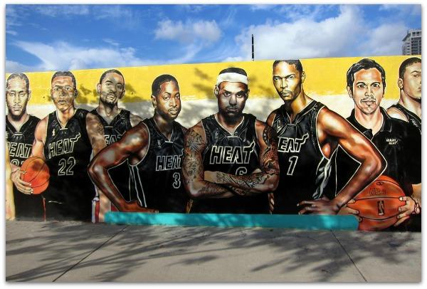 miami heat mural by wallyg framed