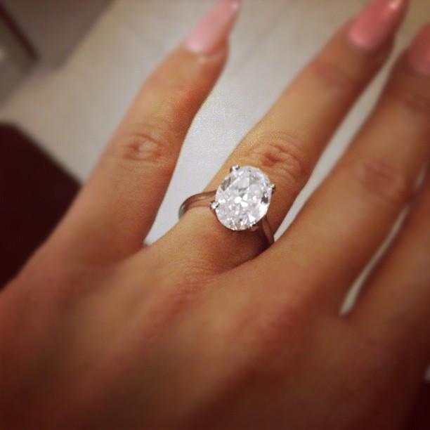 Amber Rose Engagement Ring 1