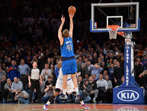 Dirk Nowitzki, Mavericks, MSG, New York, Dallas