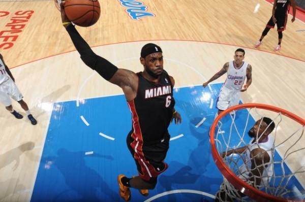 LeBron James, NBA, Miami Heat, King James, Dunk