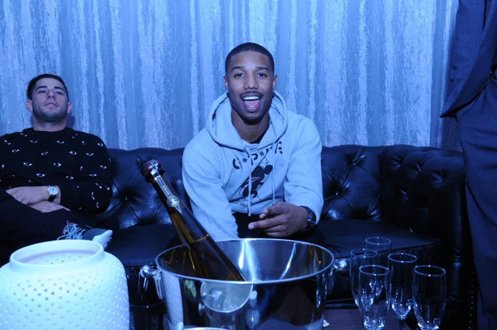 Michael B. Jordan attends the Don Julio 1942 party 1 31 14 Liquid Cellar NYC
