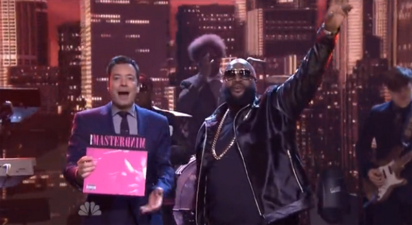 Rick Ross, The Roots, Tonight Show, Jimmy Fallon, Mastermind