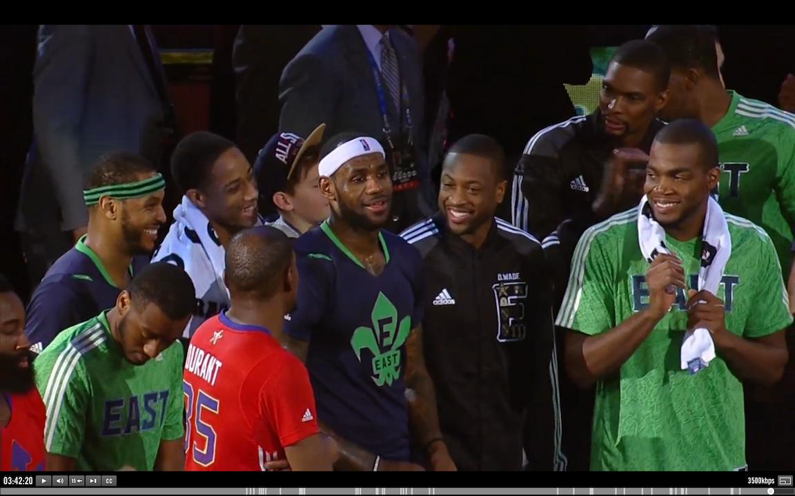 Lebron Cam NBA All Star Game 2014