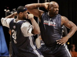 Shaquille O'Neal, LeBron James, All Star Weekend, Dance, NBA
