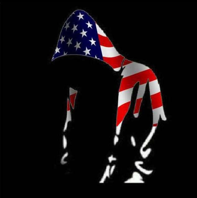 Trayvon Martin US American flag hoodie