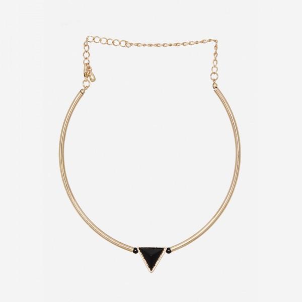 Triangle Charm Choker Necklace: $24.99