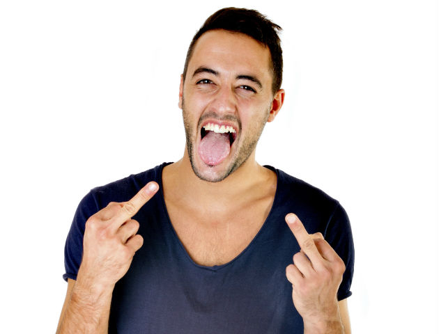 guy middle fingers 0