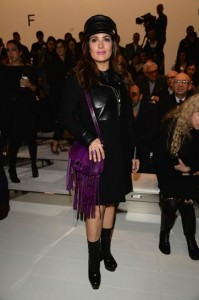 #HerSource: Salma Hayek Attends Gucci Women's Fall 2014 Presentation