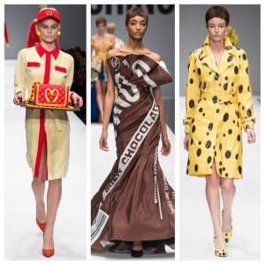 moschino, jeremy scott, fall 2014, mfw, milan fashion week, mcdonalds, jordan dunn, spongebob, hershey's,