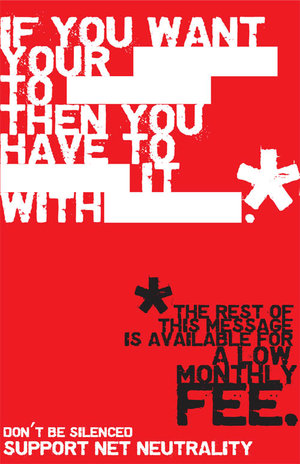 net neutrality poster by bugbyte