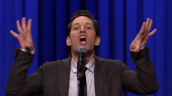 paul rudd, jimmy fallon, lip sync, tonight show, funny