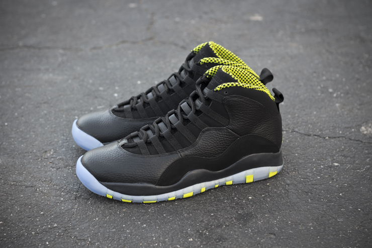 buy online 1651d 43e22 ... black cool grey anthracite venom green 310805 033 e7bbe fd952  new  style sneaker of the day the new air jordan 10 venom is deadly in a
