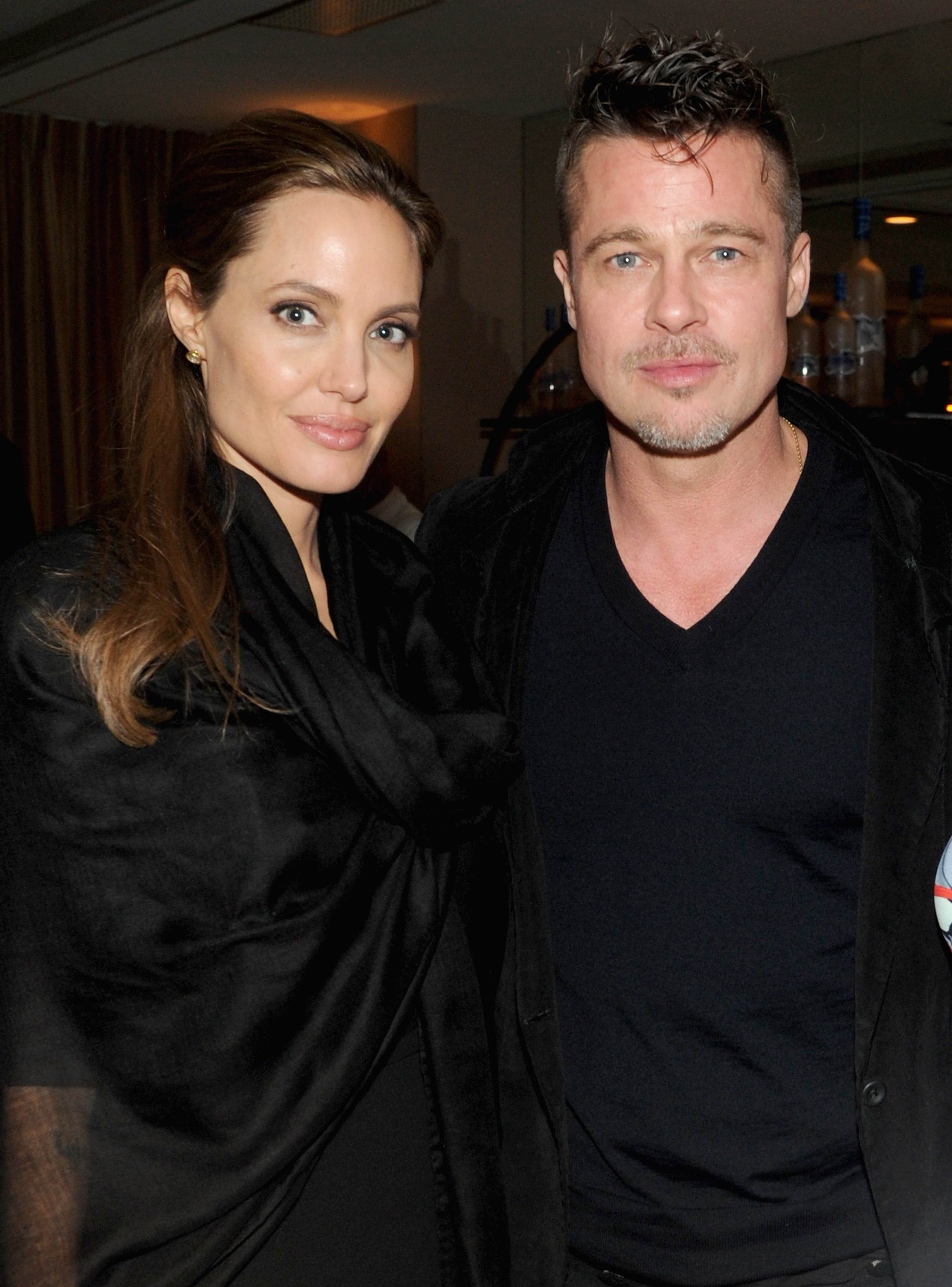 Angelina Jolie and Brad Pitt attend GREY GOOSE Hosted 12 Years A Slave Dinner at Sunset Tower