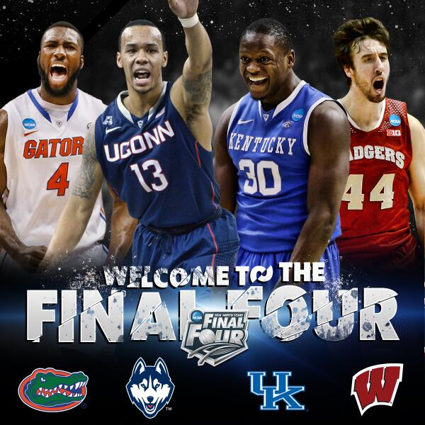 Final Four, Florida, UConn, Wisconsin, Kentucky