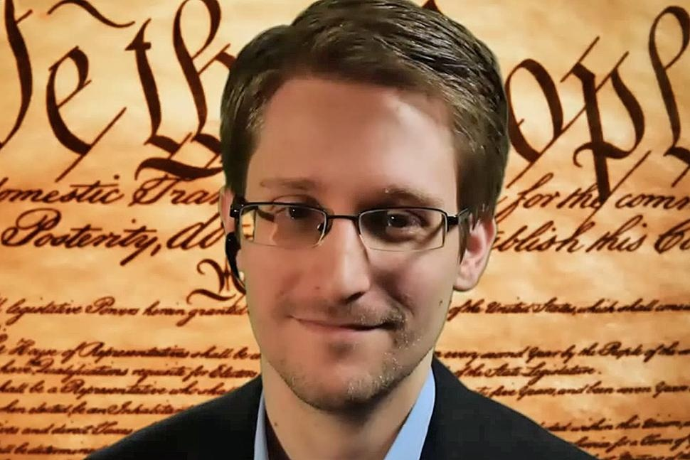 Edward Snowden speaks at SXSW NSA