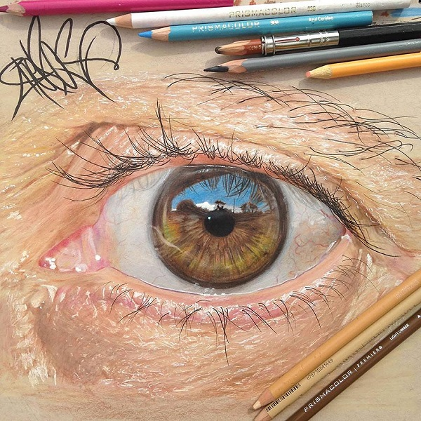 Image of: Realistic Pencil Colored Pencils Eyes Drawing Art Jose Vergara Can You Believe These Realistic Eyes Were Actually Handdrawn Using