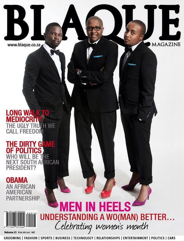 "SMH: 3 Men Grace The Cover Of Africa's ""Blaque"" Magazine ..."