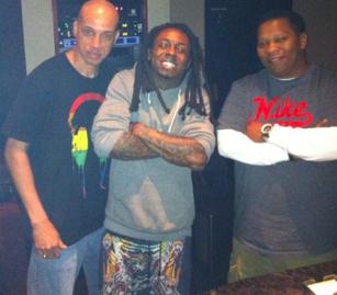 Wayne In The Studio With Mannie Fresh