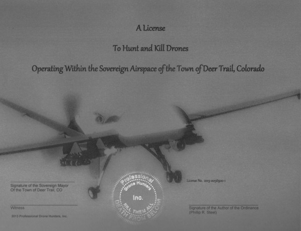 Legal drone hunting in Colorado?
