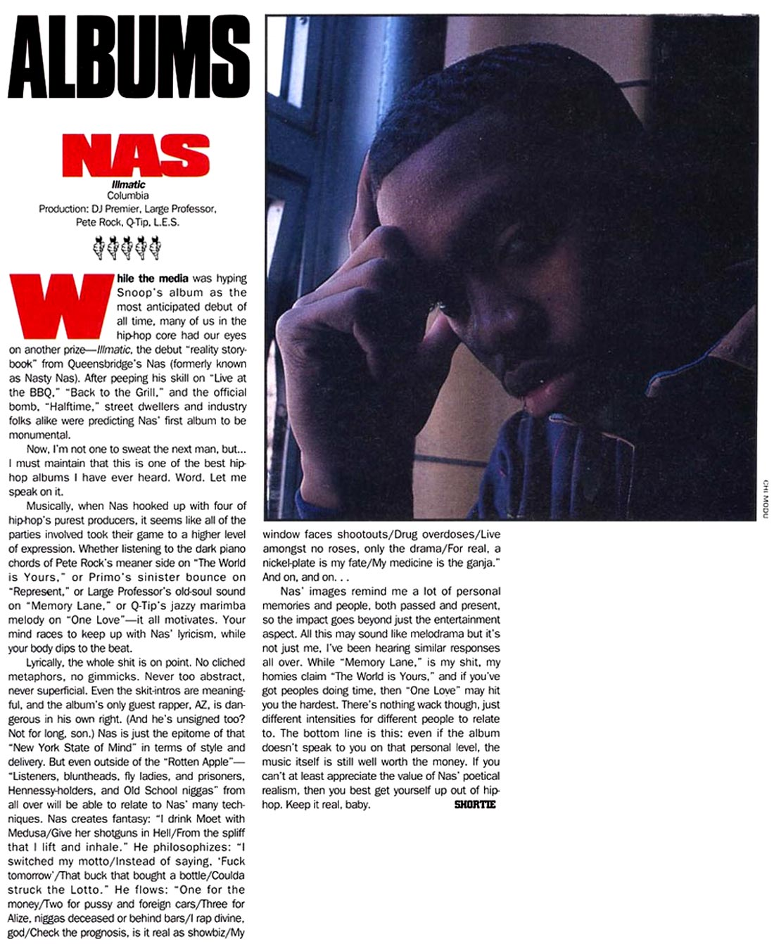 Nas Illmatic Read The Original 5-Mi...