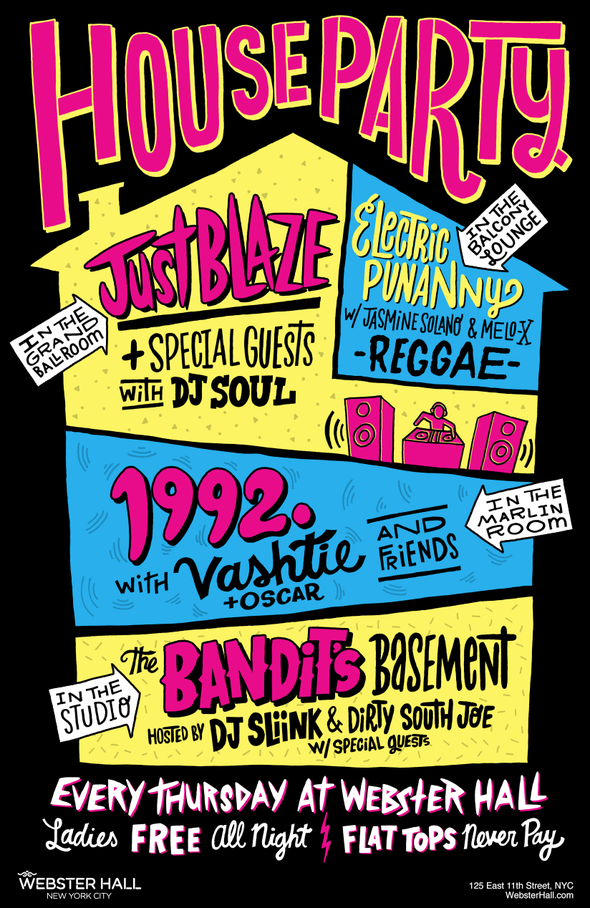Webster Hall Presents Quot House Party Quot Featuring Just Blaze