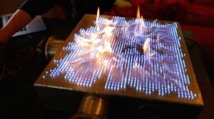 pyro board. rubens tube, fire, Fysikshow, trippy, music