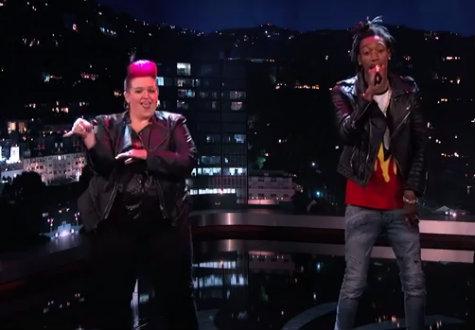 sign language rap wiz khalifa black and yellow jimmy kimmel