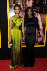 Actress Gugu Mbatha-Raw and Director Amma Asante attend the 'Belle' premiere at The Paris Theatre on April 28, 2014 in New York City