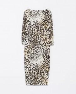 Combined Leopard Print Dress 79.90 zara.com