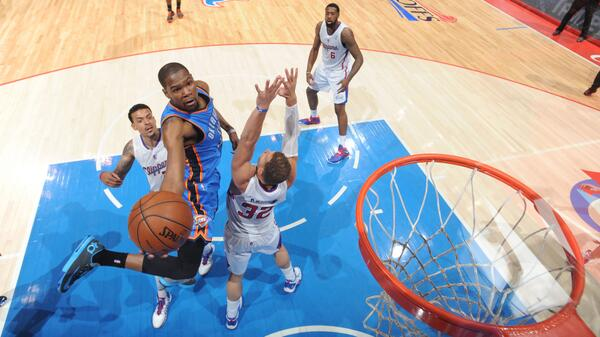 Kevin Durant, Thunder, Clippers, NBA Playoffs, Los Angeles
