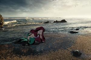 Ariel meets oil.