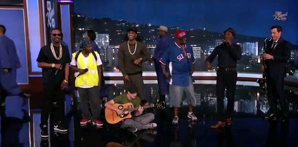 Jimmy Kimmel, The Amazing Jam Session Guys, Trey Songz, Juicy J, music, Aloe Blacc