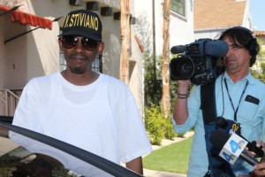 Rapper Kurupt makes a visit to V. Stiviano on the day the Donald Sterling is banned for life from the NBA