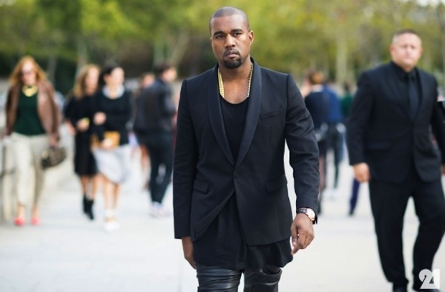 la modella mafia menswear  chic street style Kanye West fashion black in Paris