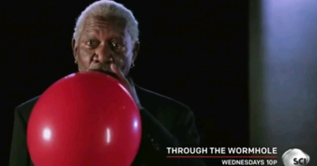 Science Channel, through the wormhole, morgan freeman, helium, funny