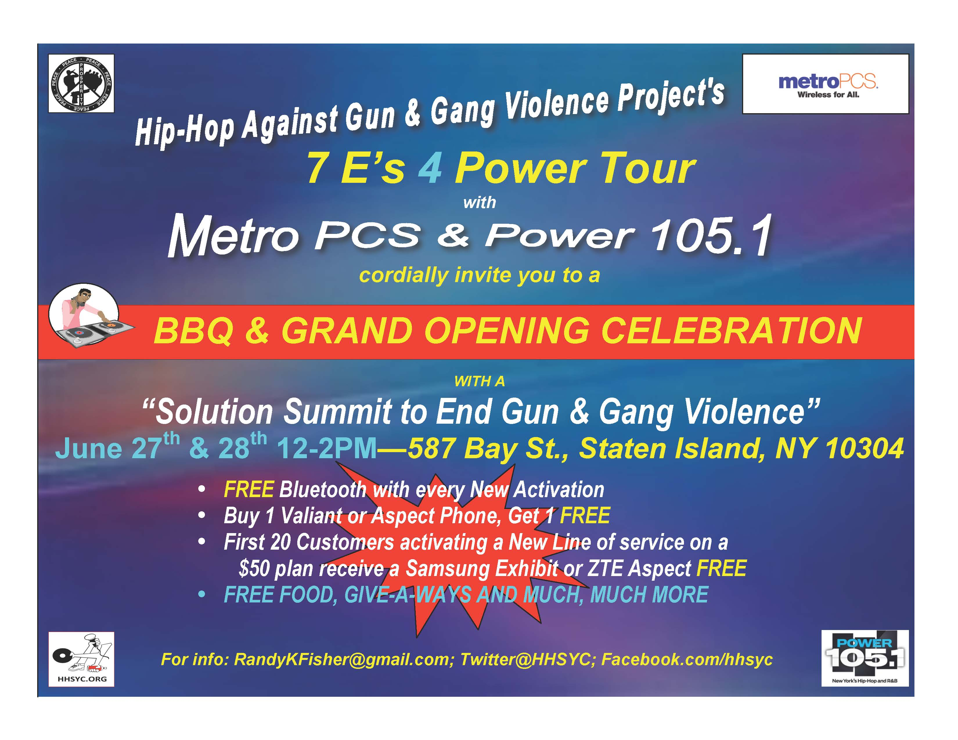 METROPCS Supports Project To End Gun And Gang Violence In NYC And NJ